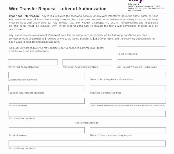 Wire Transfer Instructions Template Letter Center O