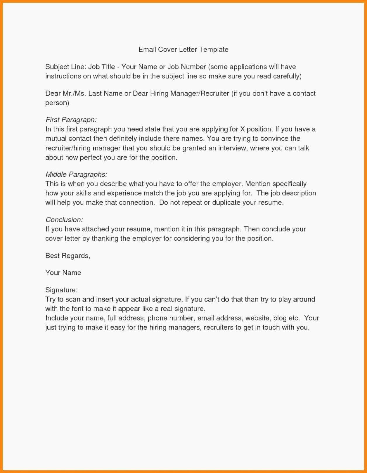 Wonderful Sending Resume to Recruiter Email Templates