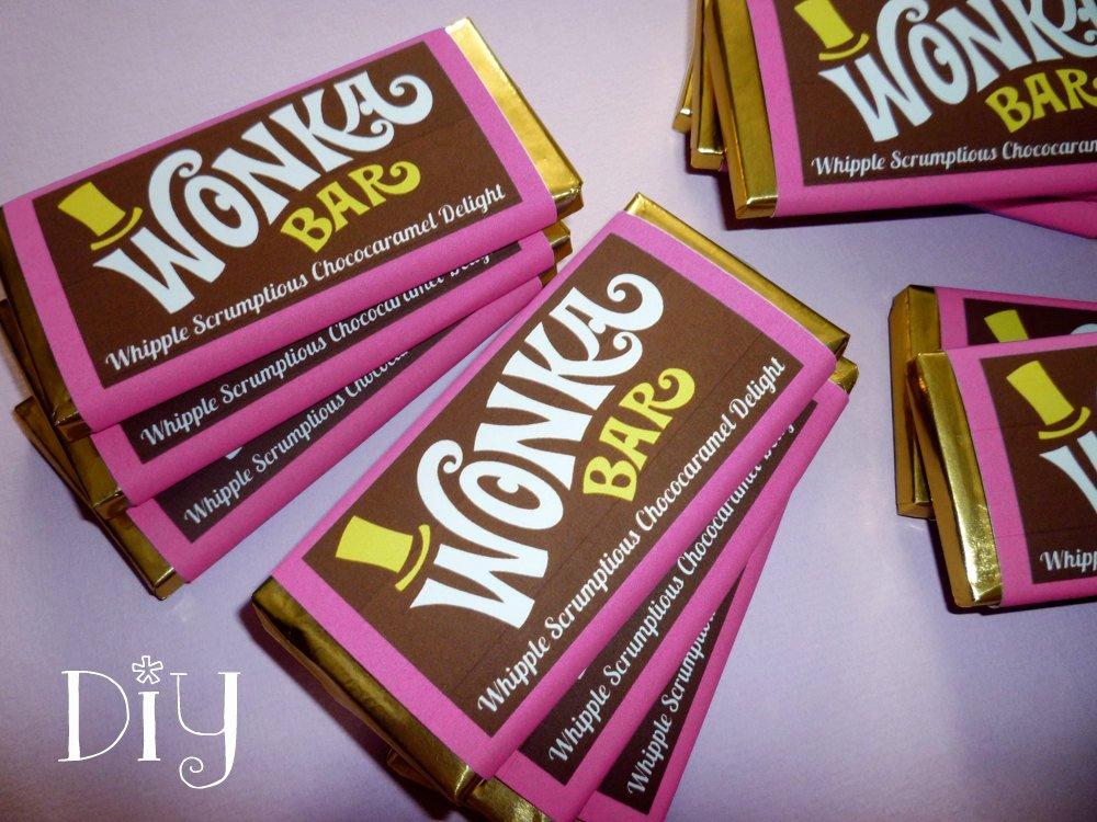 Wonka Bar Wrapper Template Wonka Bar Favor Willy Wonka
