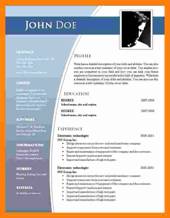 Word 2007 Resume Templates Oursearchworld