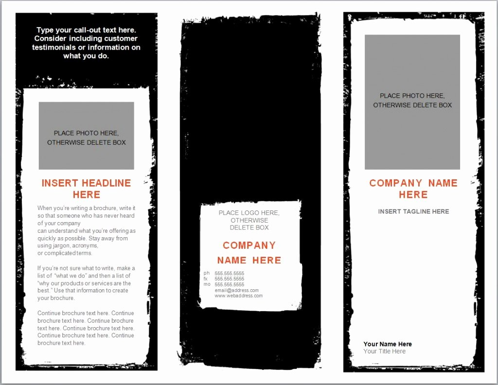 Word Brochure Template