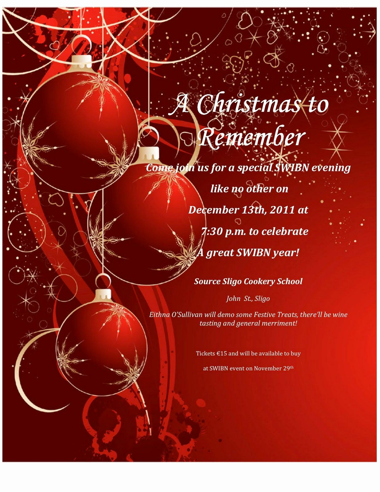 Word Christmas Party Invitation Template