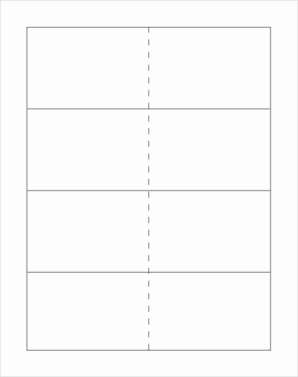 Word Cue Card Template Cards Blank Flash Small Microsoft