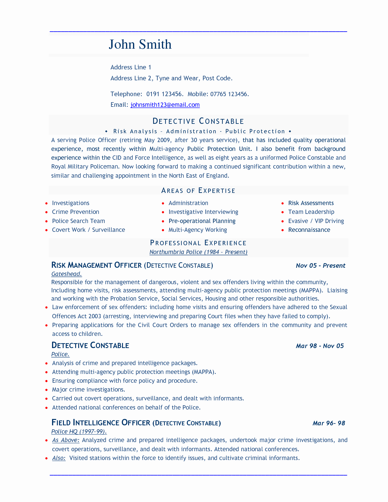 Word Document Resume Template
