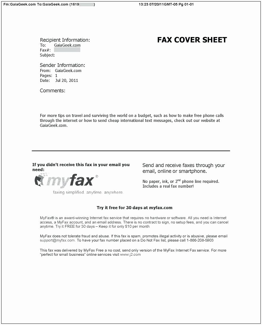 Word Fax Template Cover Sheet