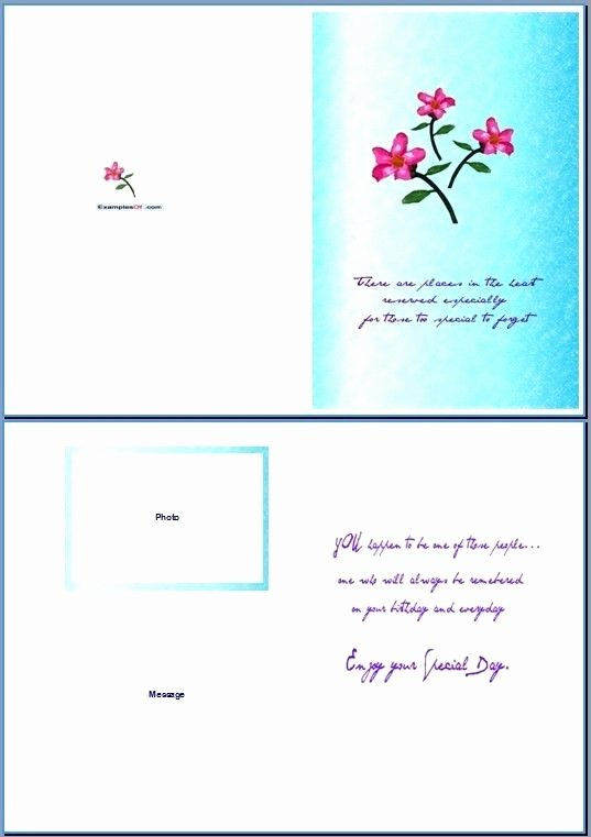 Word Greeting Card Template Invitation Template