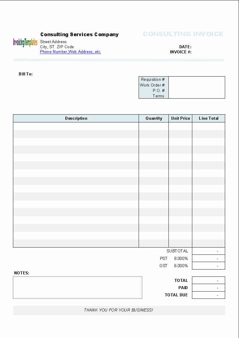 Word Invoice Template Mac