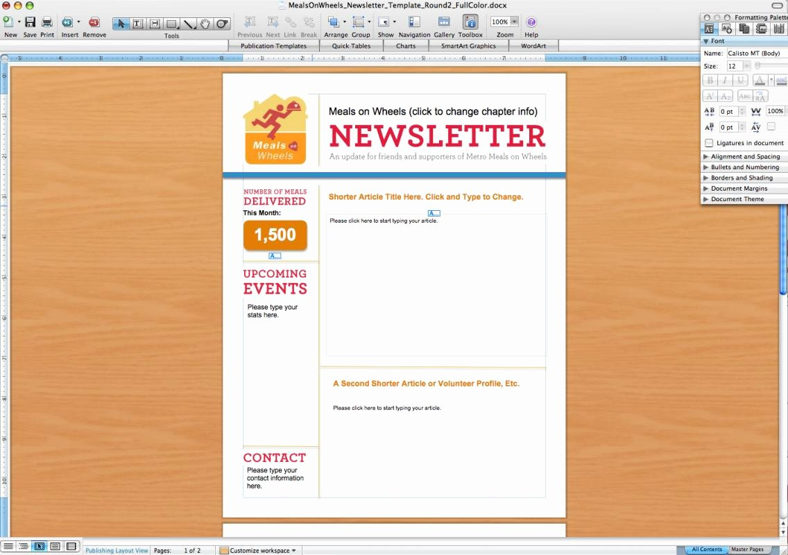 Word Newsletter Template