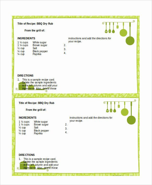 Word Recipe Template 6 Free Word Documents Download