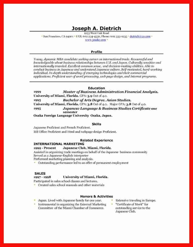Word Resume Template 2016