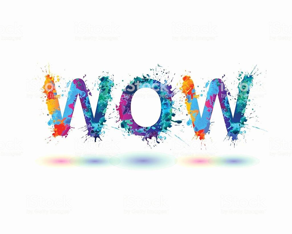 Word Wow Rainbow Splash Paint Sign Stock Vector Art & More