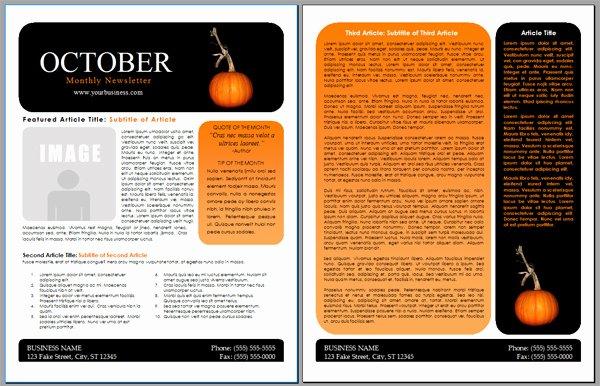 Worddraw Free Halloween Newsletter Templates