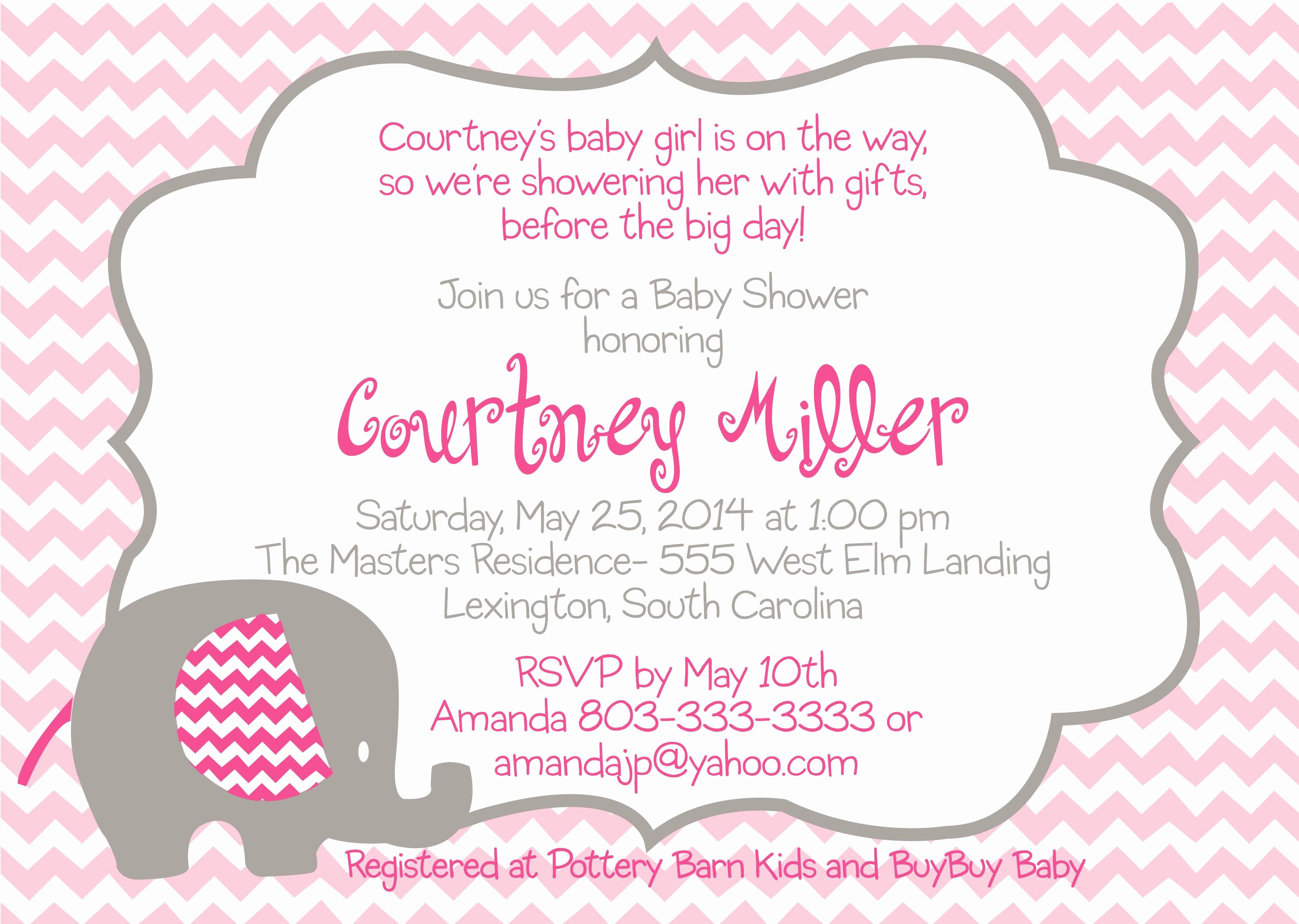 Wording for Baby Shower Invitation Wording for Baby Shower