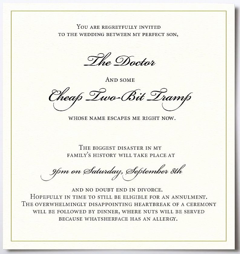 Wording for Wedding Invitation Template