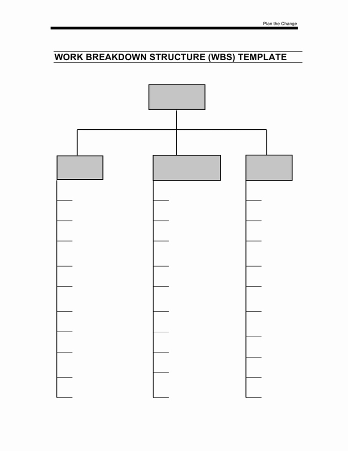 Work Breakdown Structure Template Free