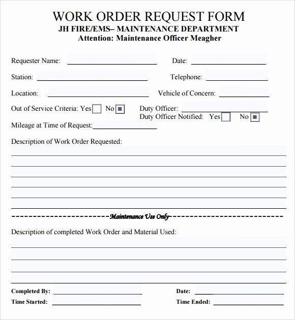 Work order Template