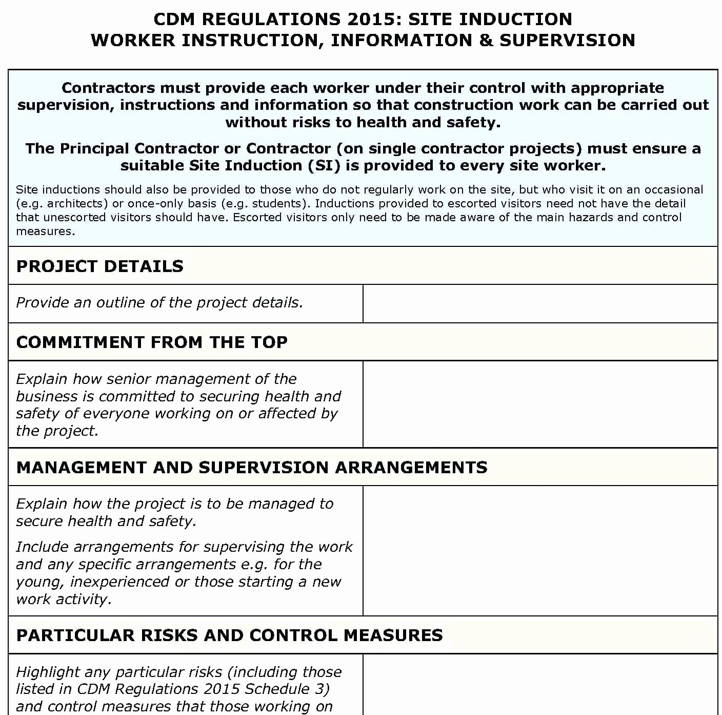 Work Safety Plan Template Gallery Template Design Ideas