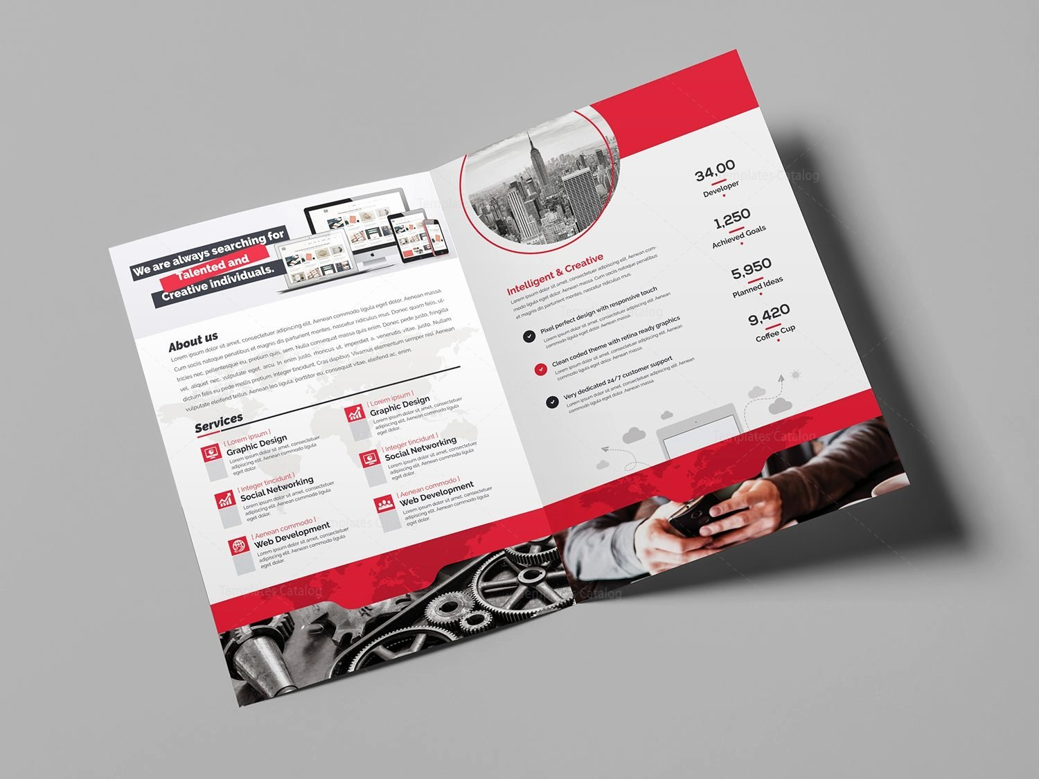 World Bi Fold Brochure Template Template Catalog
