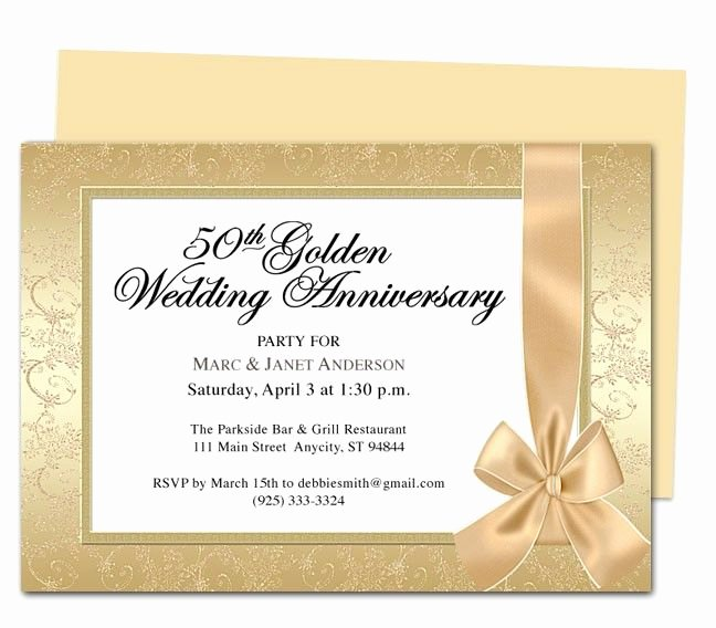 Wrapping Anniversary Invitation Template