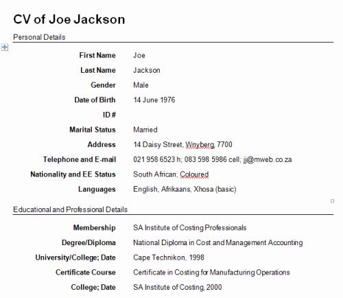 Write A Resume Free