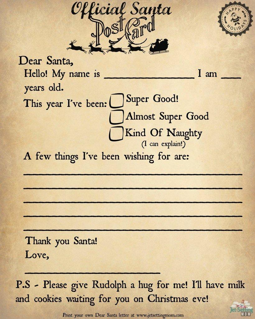 Write to Santa the Easy Way Printable Letter to Santa