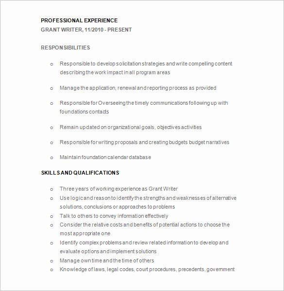 Writer Resume Template – 24 Free Samples Examples