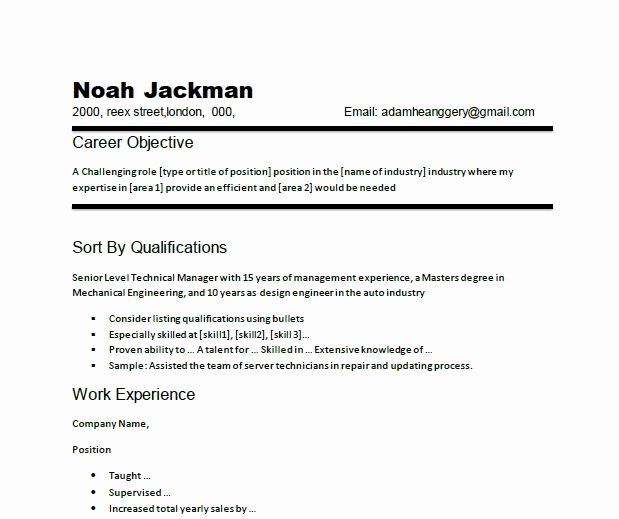 Writing A Career Objective for A Resume Best Resume Gallery