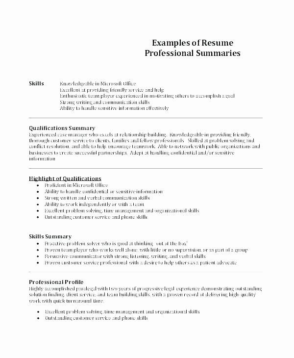 Writing A Resume Summary – Mkmafo