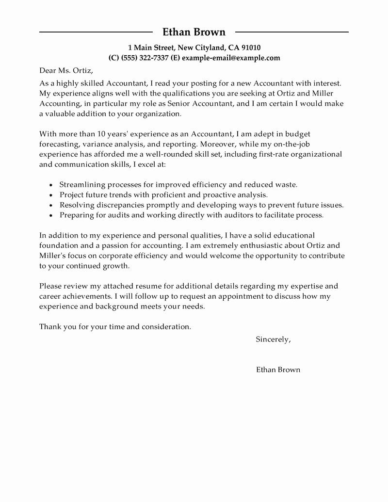 Entry Level Accounting Cover Letter Tips Latter Example Template