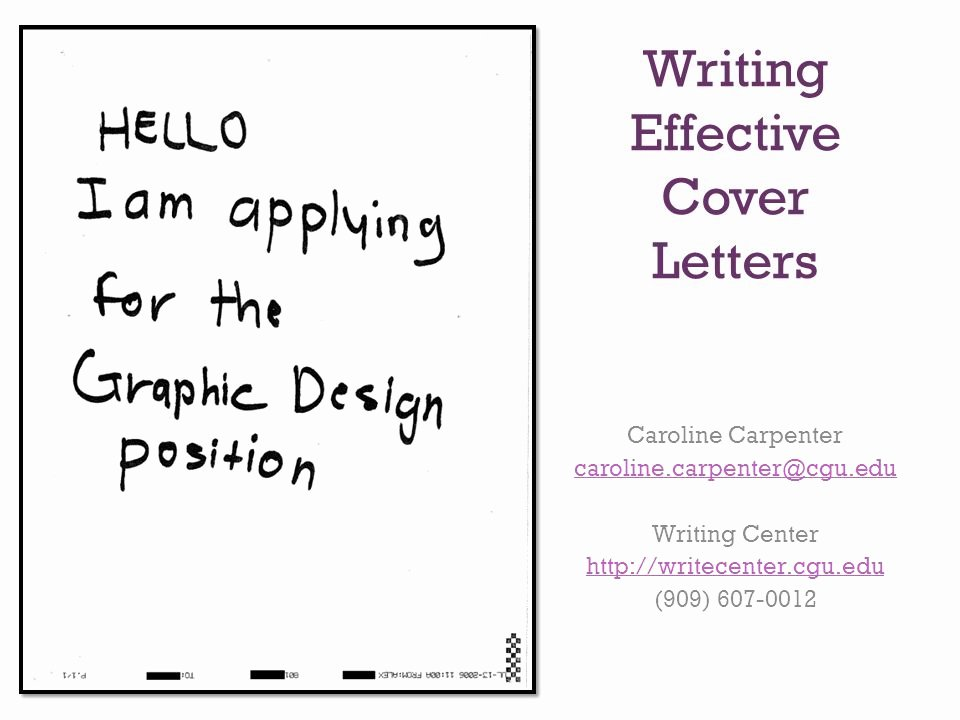 Writing Effective Cover Letters Ppt Video Online