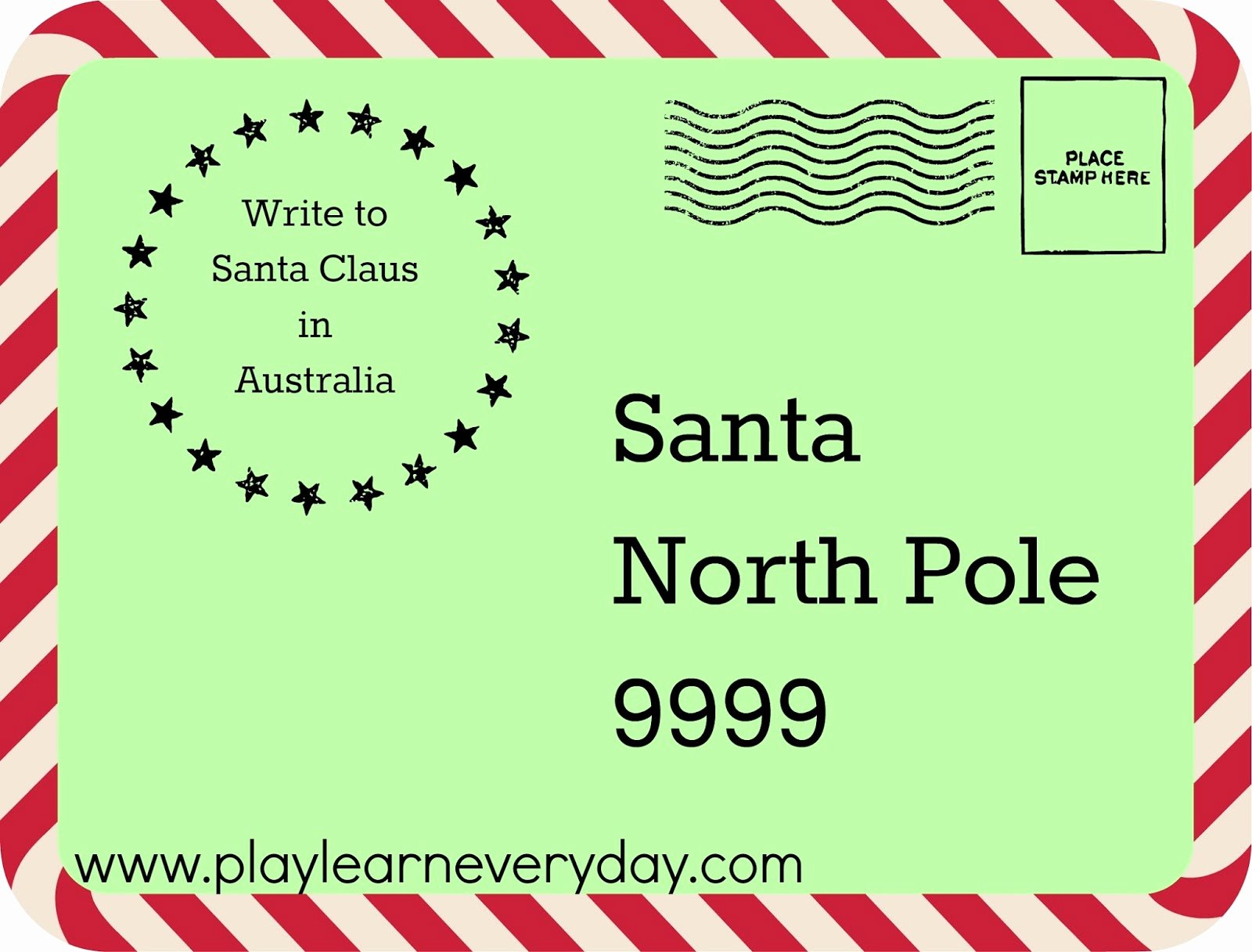 Writing Letters to Santa Around the World Play and Learn