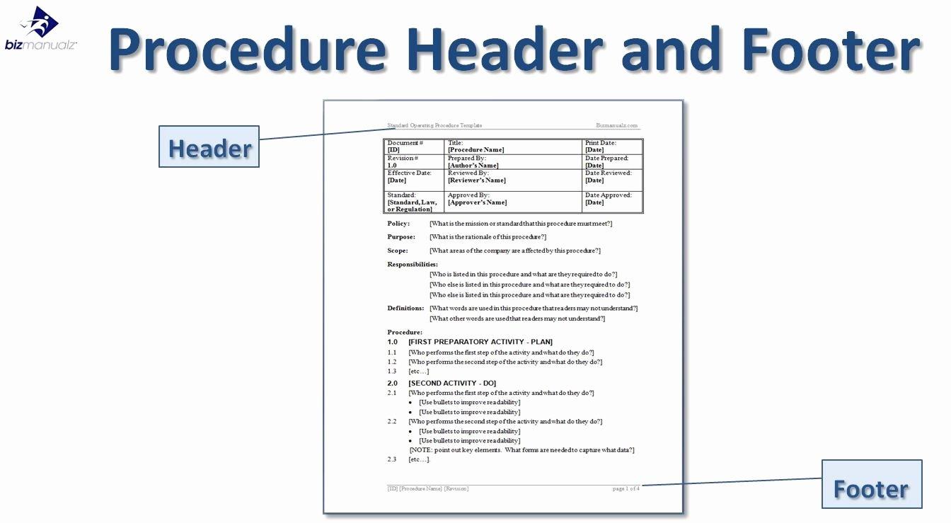 Writing Standard Operating Procedures Writing sop