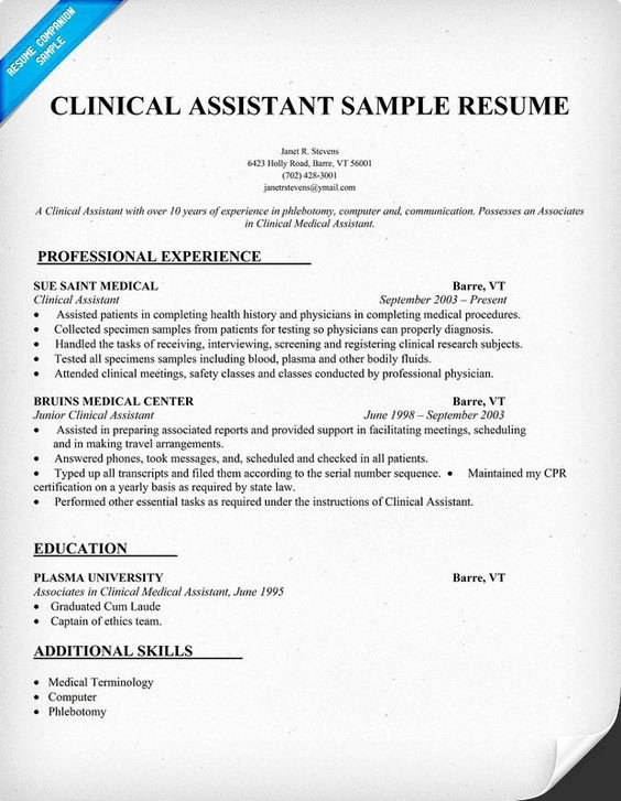 Writing Tips Medical assistant and Resume Writing On