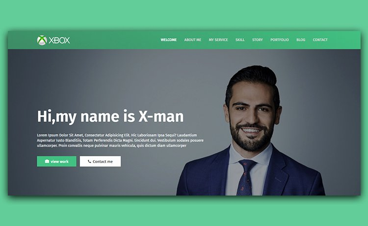 X Man Free Personal Website Template for Crafting Cv