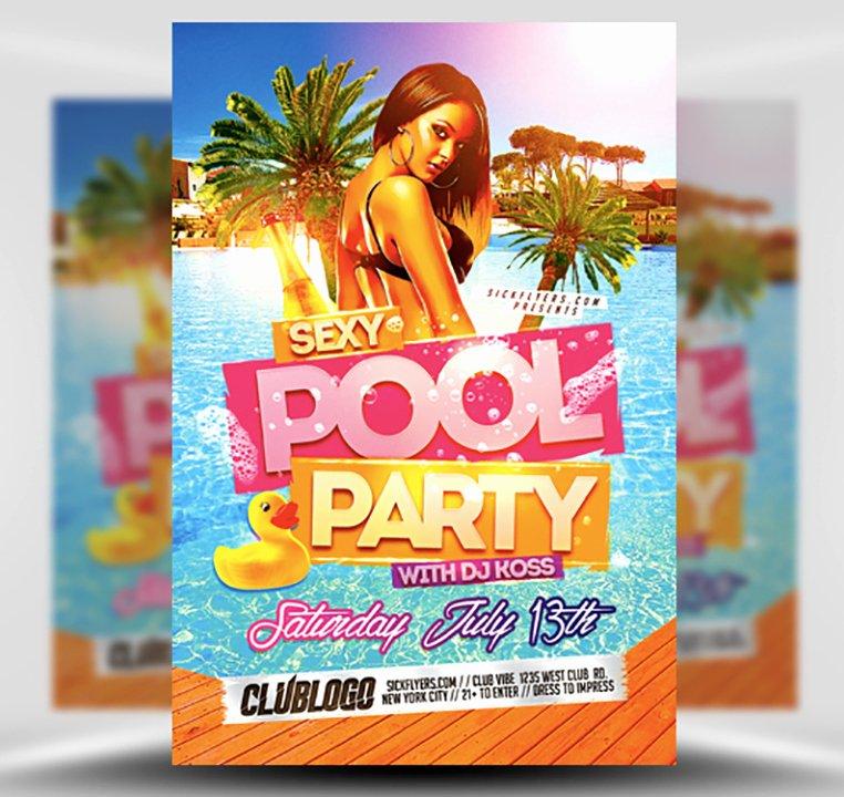 Y Pool Party Flyer Template Flyerheroes