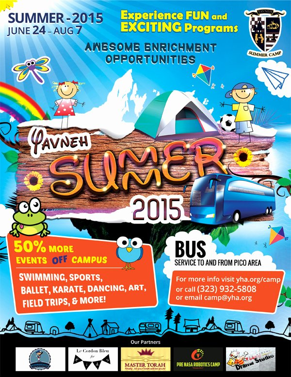 Yavneh Summer Camp Flyer Design On Behance
