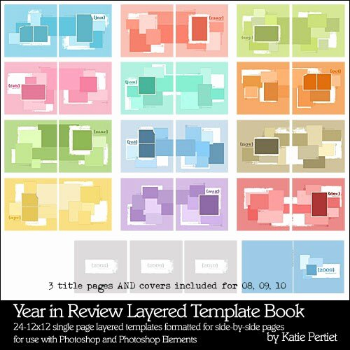 Year In Review Layered Template Book Katie Pertiet
