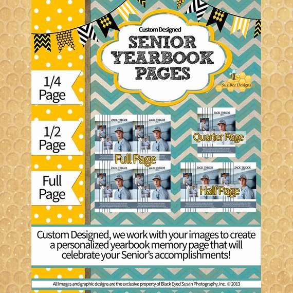 Yearbook Ad Template Custom Designed Full 1 2 1 4 Page