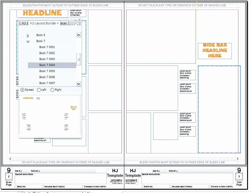 Yearbook Page Layout Template – Mediaschoolfo
