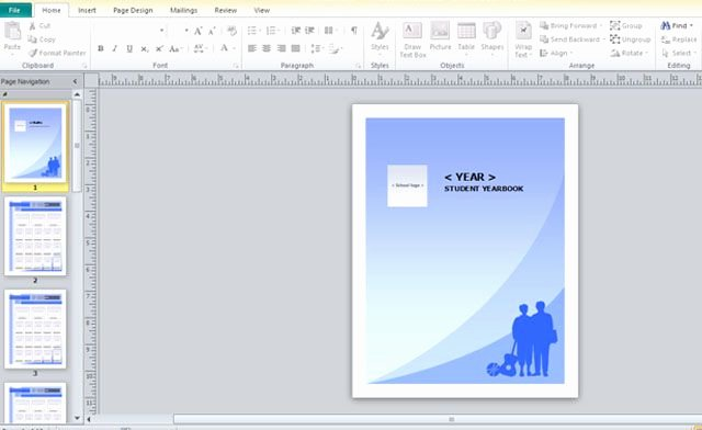 Yearbook Template for Microsoft Publisher