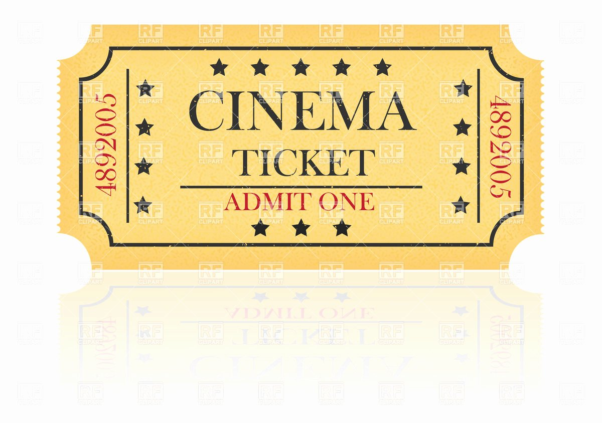 Yellow Cinema Ticket Vector Image – Rfclipart