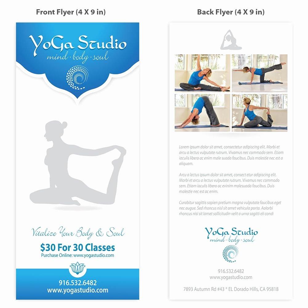 Yoga Flyer Template Design Yoga Teacher