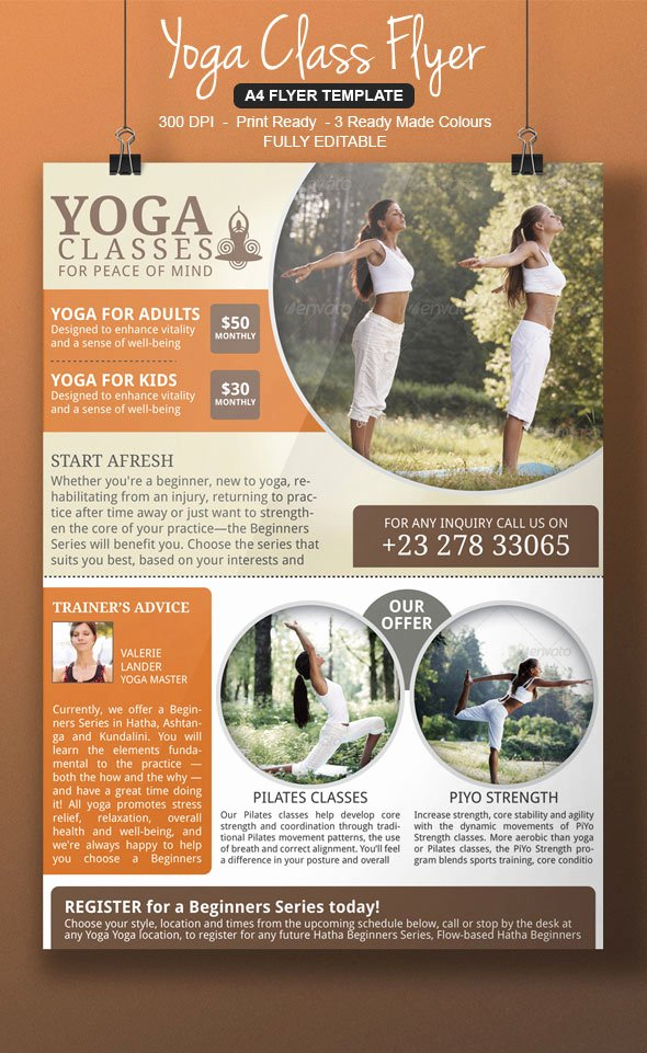 Yoga Flyer Templates Marketing Ideas for Your Yoga
