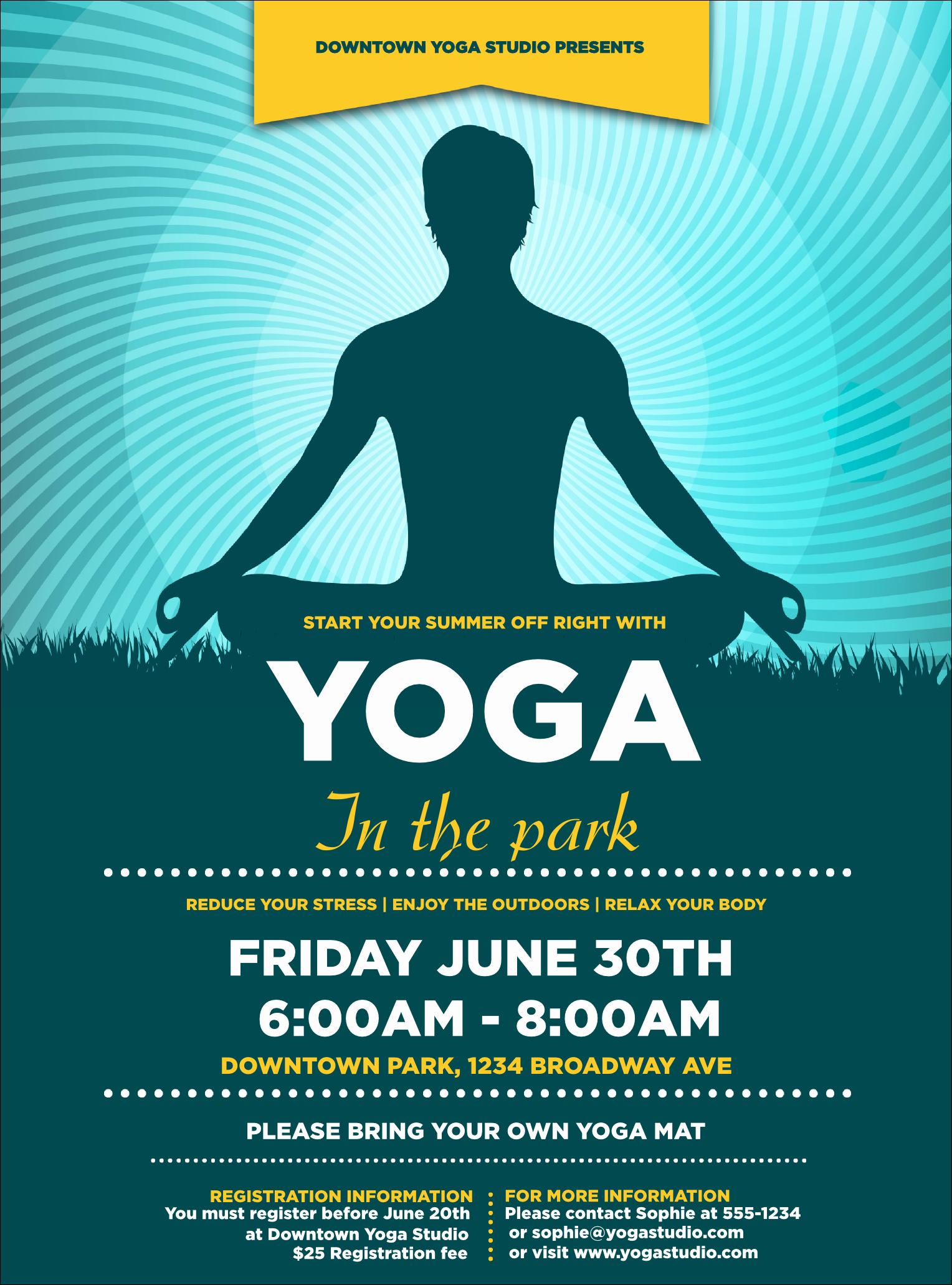 Yoga Meditation Flyer