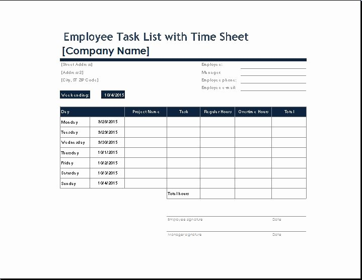 You Can Your Own Employee Task List Template From Here
