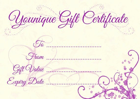 Younique Gift Certificate