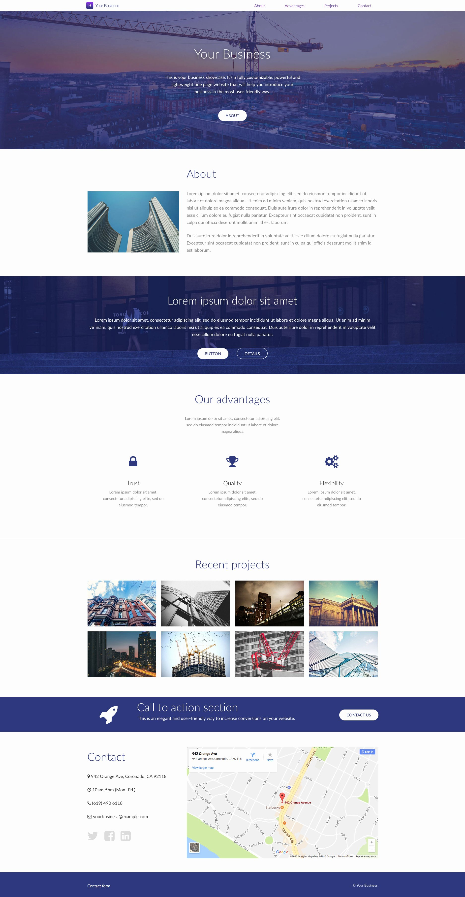 Your Business Free Responsive HTML5 Landing Page Template