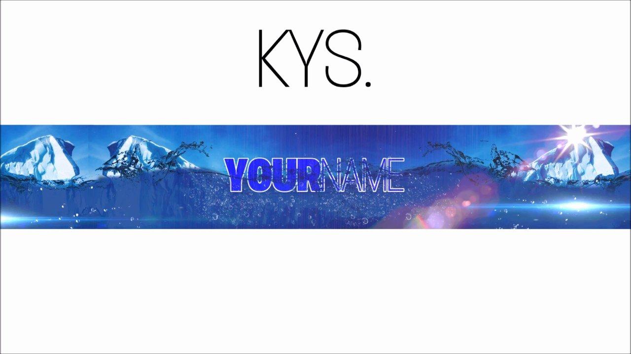Youtube Banner Template Gimp