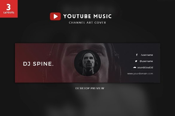 Youtube Channel Art Template 47 Free Psd Ai Vector