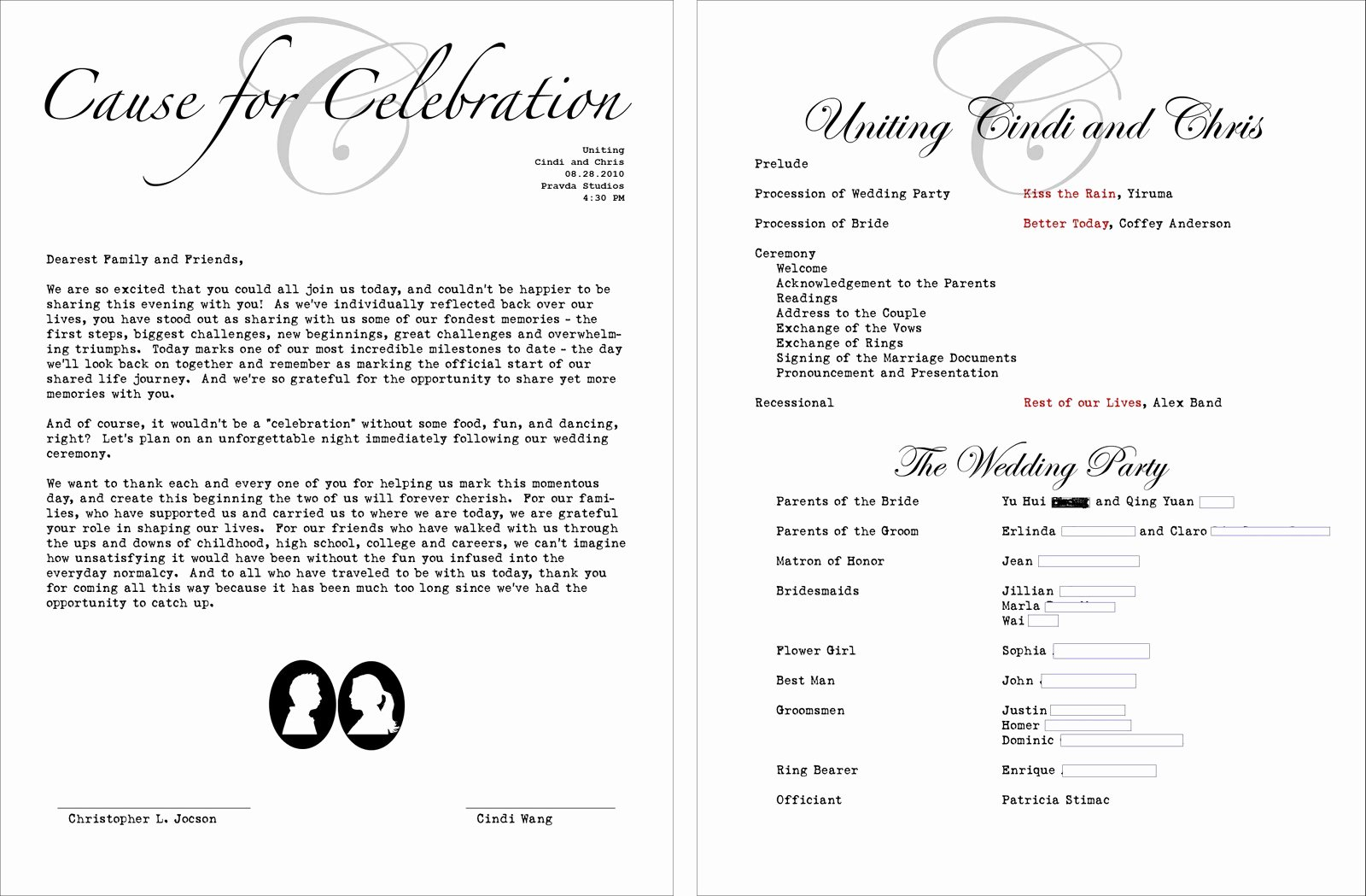 Zahra S Blog Jewish Wedding Program Wording